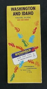 1961-Washington-Idaho-road-map-Richfield-oil