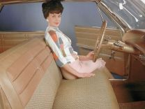 The 1963 Chevrolet Impala Sport Sedan with a front bench seat. The 2013 Impala is the last North American passenger car in the industry to offer a front bench seat.